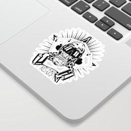 Aviator skull art, custom gift design Sticker