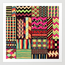 African Style No18 Art Print