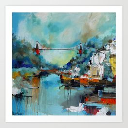 Clifton Suspension Bridge Bristol England Art Print