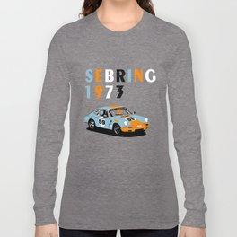 1973 Porsche Carrera RSR At Sebring 12 Hours Long Sleeve T-shirt