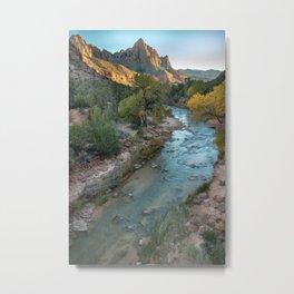 The Watchman and Virgin River Metal Print