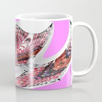 transparent Mugs featuring Transparent Thinking by Irfan Gillani