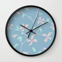 Floral Clematis Vine - Cool Summer Wall Clock