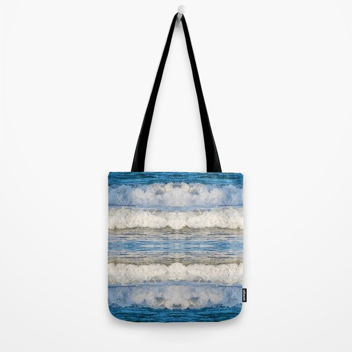 Abstract Waves splashing off the Queensland coast, Australia kaleidoscope Tote Bag
