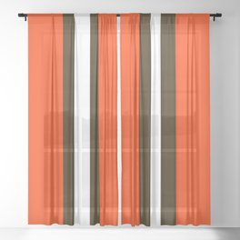 Cleveland Team Colors Sheer Curtain