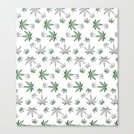 Weed Illustrated Canvas Print