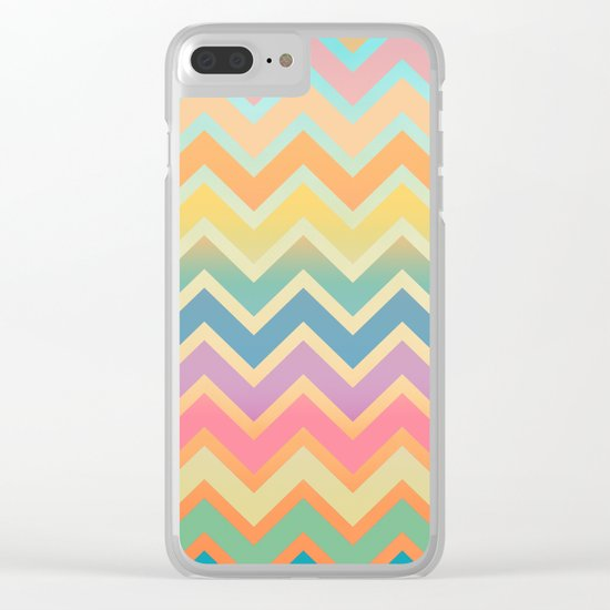 Summer-color Chevron Clear iPhone Case