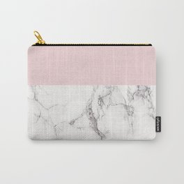 Marble and Pink Carry-All Pouch