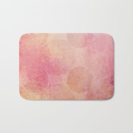 Pink Vintage Circles Background Texture Bath Mat