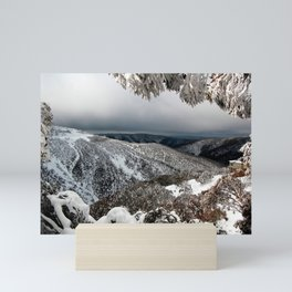 On the Mountainside in Winter Mini Art Print