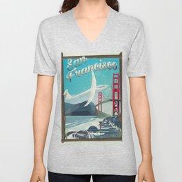 San Francisco, California Glider poster print. Unisex V-Neck