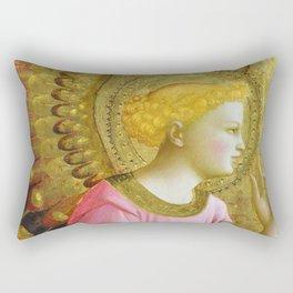 "Fra Angelico (Guido di Pietro) ""Annunciatory Angel"" Rectangular Pillow"