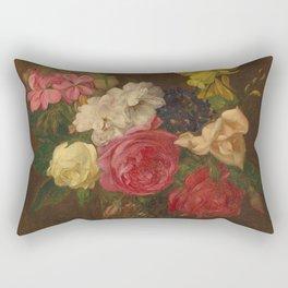 Flowers in a Cut Glass Vase Rectangular Pillow
