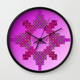 Violet Lantern Symbol & Oath Wall Clock