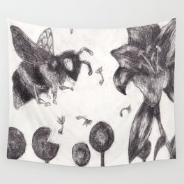 Bee Happy 3 Wall Tapestry