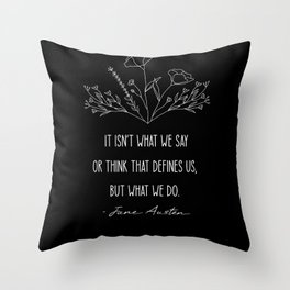 What Defines Us - Inverted Throw Pillow