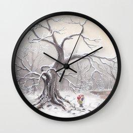 Gnome and fox Wall Clock