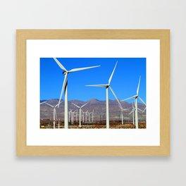 Wind Mill Power  Framed Art Print