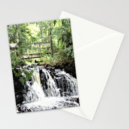 Bridge Over Waterfall Stationery Cards