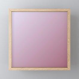 Pink gradient color Framed Mini Art Print