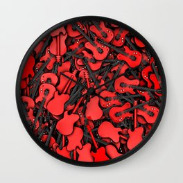 Just guitars Wall Clock