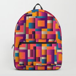 Abstract Geometric Shapes Bold Colors Backpack