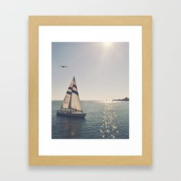 Santa Cruzing Framed Art Print