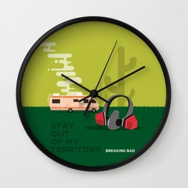 BREAKING BAD - STAY OUT OF MY TERRITORY Wall Clock