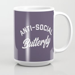 Anti-Social Butterfly Funny Quote Coffee Mug