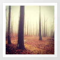 Fading Into Fog Art Print