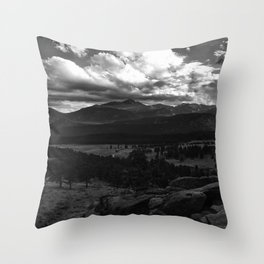 Longs Peak - Rocky Mountain National Park Throw Pillow