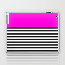 STRIPE COLORBLOCK {PINK} Laptop & iPad Skin