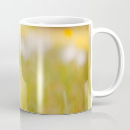 White flower with ladybug Coffee Mug