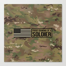 Proud Grandma of a Soldier Canvas Print