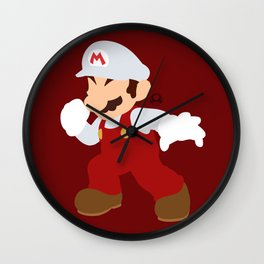 Mario(Smash)Fire Wall Clock