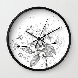 Rosebuds Wall Clock