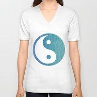 yin yang V-neck T-shirts featuring Yin Yang by shans