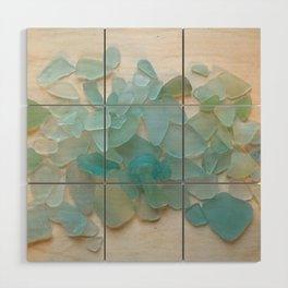 Ocean Hue Sea Glass Wood Wall Art