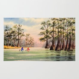 Suwannee River Florida Canooing Rug