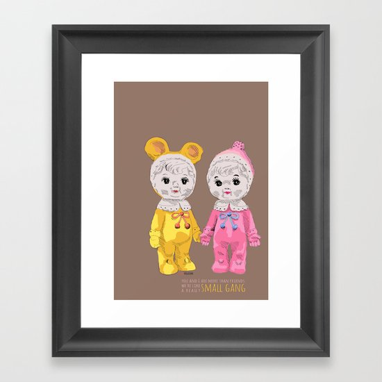 Small Gang Framed Art Print