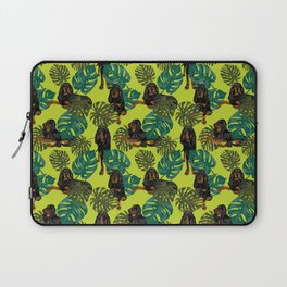 Tropical Black and Tan Coonhounds 2 Laptop Sleeve