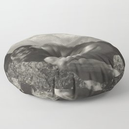 Adonis - In the Bosom of Nature - Male form artistic nude black & white photograph by Rudolf Koppitz Floor Pillow