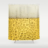 beer Shower Curtains featuring Beer by Thorin