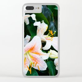 lilies and leaves Clear iPhone Case
