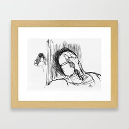 Warbot Sketch #032 Framed Art Print
