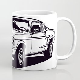 Classic american muscle car icon vector graphic dsign Coffee Mug