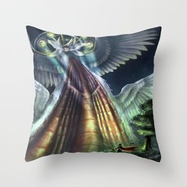 Never Look into the Eyes Throw Pillow