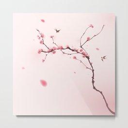 Oriental cherry blossom in spring 001 Metal Print