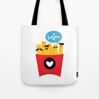 french Tote Bags featuring French Fries by Reg Silva / Wedgienet.net