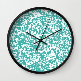 Small Spots - White and Verdigris Wall Clock